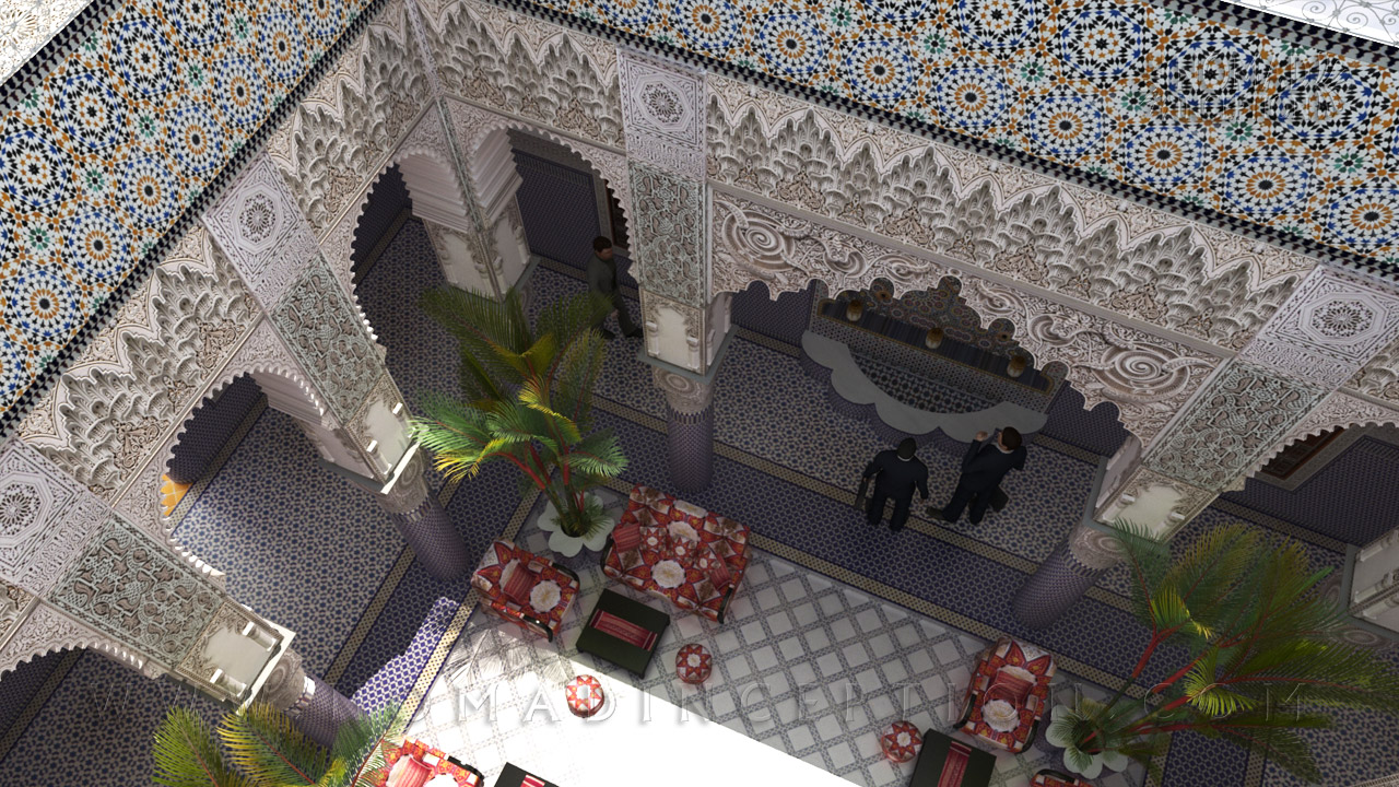 Islamic architecture and islamic decoration in modern design for Arabian decoration materials trading