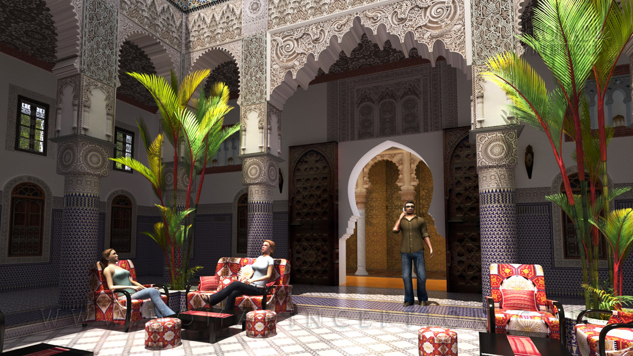 Islamic architecture and islamic decoration in modern design for Arabic decoration style