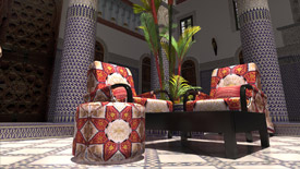 Fully decorated Moroccan Riad